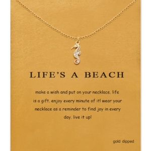 """Jewelry - Seahorse """"Make A Wish"""" Life Is A Beach Necklace"""